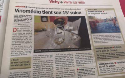 VINOMEDIA, le salon du vin de Vichy vu dans la presse